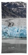 Magnificent Sawyer Glacier At The Tip Of Tracy Arm Fjord Bath Towel