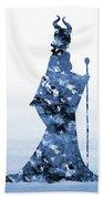 Maleficent-blue Bath Towel