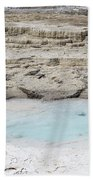 Mammoth Hot Springs Upper Terraces In Yellowstone National Park Bath Towel