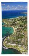 Maui Aerial Of Kapalua Bath Towel
