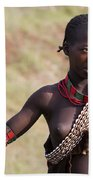 member of the Bena Tribe, Omo Valley Bath Towel