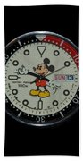 Mickey Mouse Watch Face Bath Towel