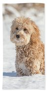 Mini Golden Doodle  Bath Towel