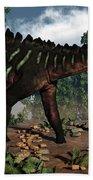 Miragaia Dinosaur - 3d Render Bath Towel