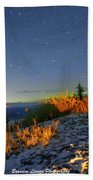 Northern Lights At Mount Pilchuck Bath Towel