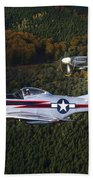 P-51 Cavalier Mustang With Supermarine Bath Towel