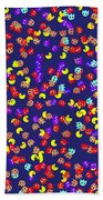 Pacman Seamless Generated Pattern Bath Towel