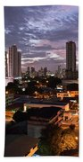 Panama City At Night Bath Towel