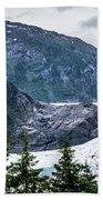 Panoramic View Of Mendenhall Glacier Juneau Alaska Bath Towel