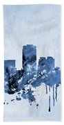Phoenix Skyline-blue Bath Towel