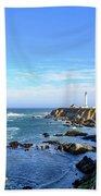 Point Arena Lighthouse Bath Towel by Jim Thompson