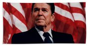 President Ronald Reagan Bath Towel