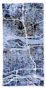 Quad Cities Street Map Bath Towel