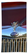 Red Ford Hotrod Hand Towel