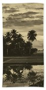 Rice Field Sunrise - Indonesia Bath Towel