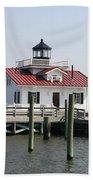 Roanoke Marshes Lighthouse Bath Towel