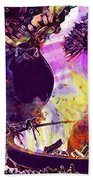 Robin Erithacus Rubecula Bird  Bath Towel