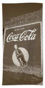 Route 66 - Coca Cola Ghost Mural Bath Towel