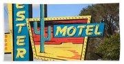 Route 66 - Western Motel Bath Towel