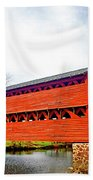 Sachs Bridge - Gettysburg Bath Towel