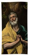 Saint Peter In Tears Bath Towel