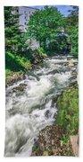 Salmon Hatchery Creek In Mountains Of Alaska Bath Towel
