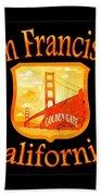 San Francisco California Golden Gate Design Bath Towel