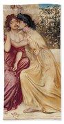 Sappho And Erinna In A Garden At Mytilene Bath Towel