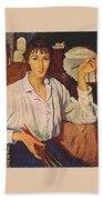Self-portrait Zinaida Serebryakova Bath Towel