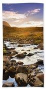 Seydisfjordur Fjord Valley Bath Towel