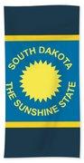 South Dakota Flag Bath Towel