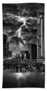 Storm Over Frankfurt Bath Towel