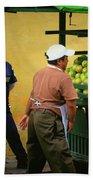 Street Vendor - Antigua Guatemala Bath Towel