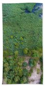 Summer Time Lake And Green Forest, In Poland Lanscape.  Bath Towel