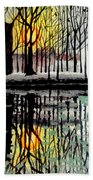 Sunset By The Lake Hand Towel
