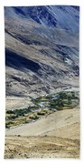 Tangsey Village Landscape Of Leh Ladakh Jammu And Kashmir India Bath Towel