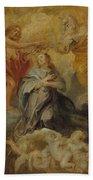 The Coronation Of The Virgin Bath Towel