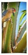 The Gila Woodpecker Bath Towel