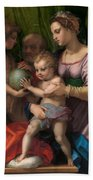 The Holy Family With The Young Saint John The Baptist Bath Towel