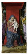 The Virgin And Child With Saints Bath Towel