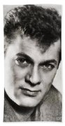 Tony Curtis, Vintage Hollywood Legend Bath Towel