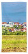 Town Of Vrbovec Landscape And Architecture Bath Towel