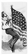 U.s. Flag, 19th Century Bath Towel