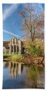 Valle Crucis Abbey  Bath Towel