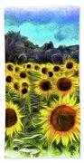 Van Gogh Sunflowers Bath Towel