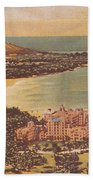 Vintage Hawaiian Art Bath Towel