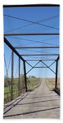 Vintage Steel Girder Bridge Bath Towel
