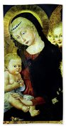 Virgin And Child  Bath Towel