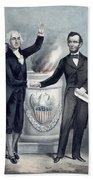 Washington And Lincoln Bath Towel