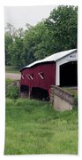West Union Covered Bridge, Indiana Bath Towel